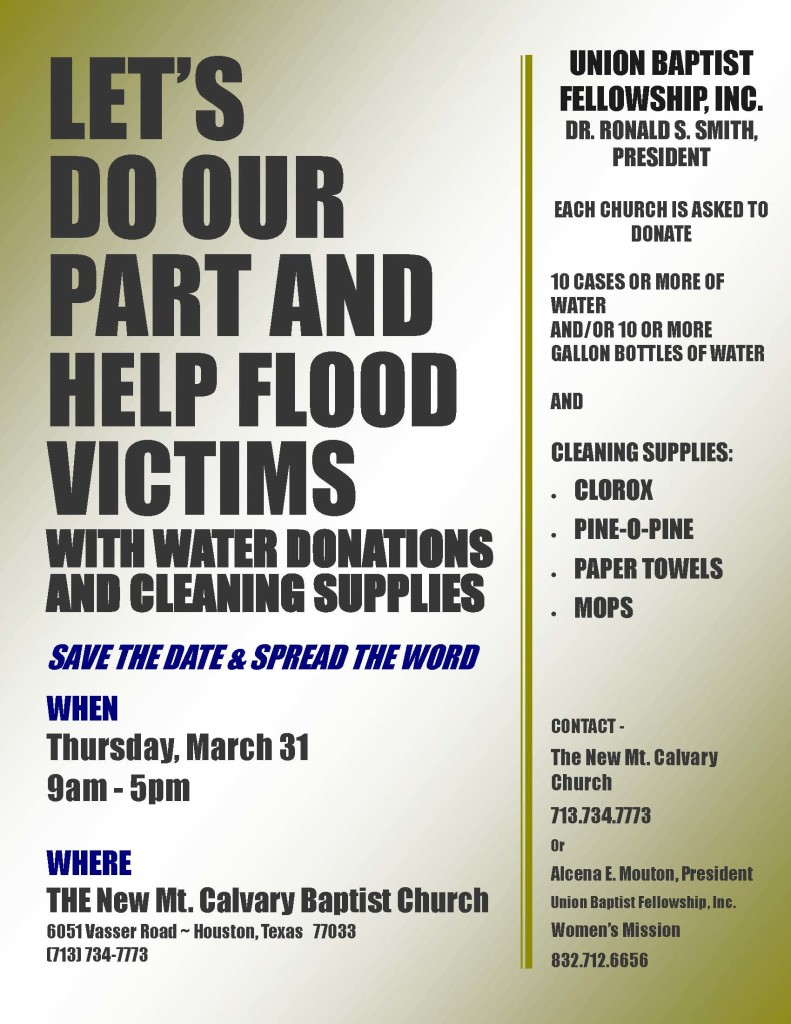 Water Donations - Revised Flyer