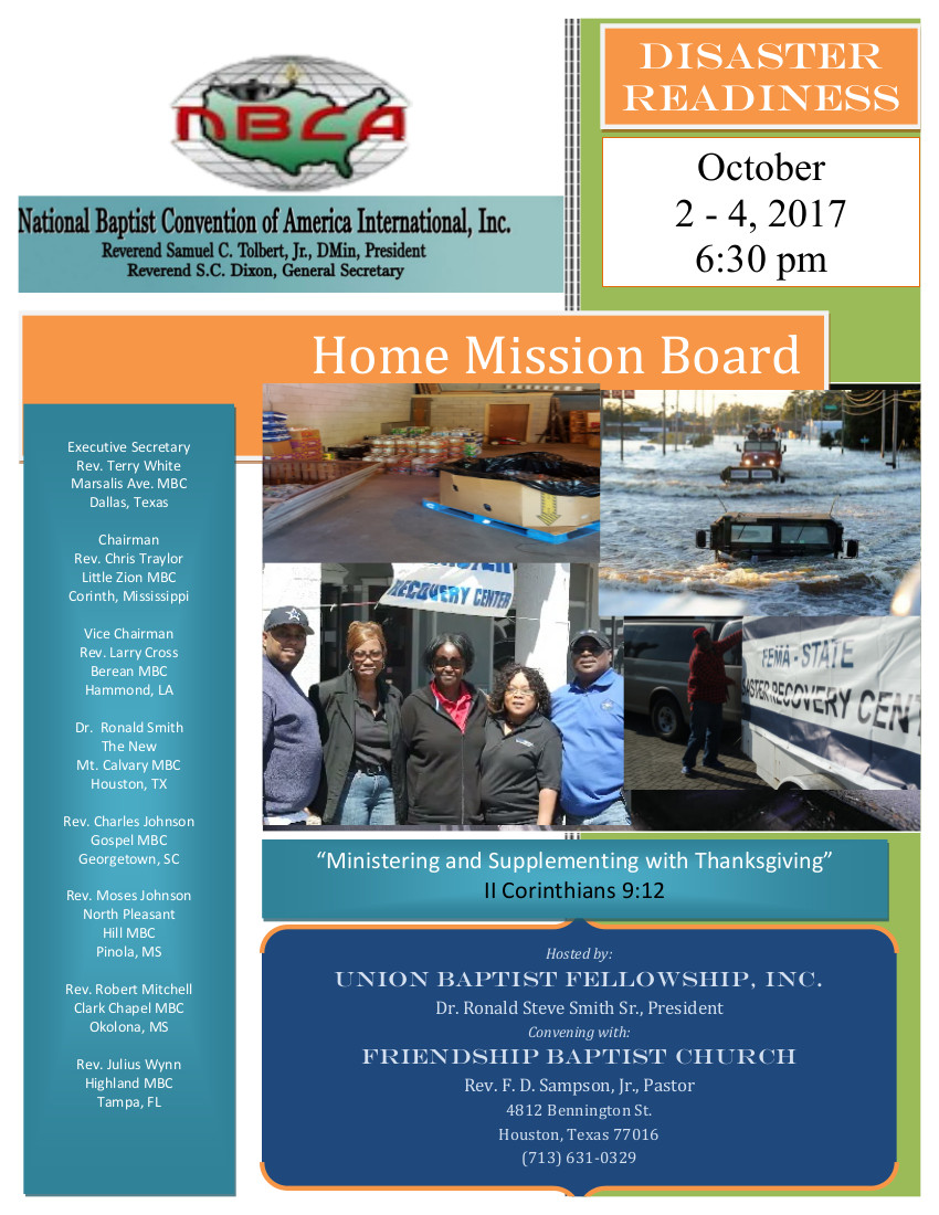 2017Home Mission Flyer - Houston